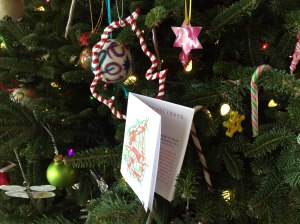 book holiday card